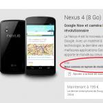 Nexus 4 rupture stock