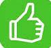 Pouce Vert Positif